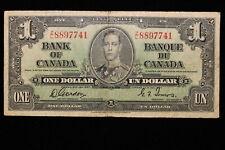 1937 Canada. ($1) One Dollar. Series Z/L. Gordon-Towers.