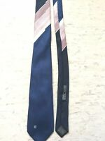 "Pierre Balmain navy mix multi pattern pure silk tie 2 3/4"" wide 55"" long Italy"