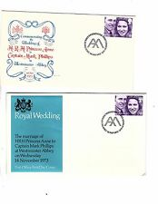 Great Britain First Day Stamp Cover Royal Wedding Anne & Mark 1973 4 + 1 Insert