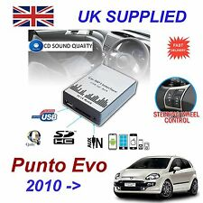 FIAT PUNTO EVO mp3 USB SD CD AUX Input Adattatore Audio Digitale Caricatore CD Modulo