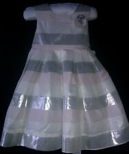 NWOT $40 Lydia Jane Pink/Ivory/Silver Dress 12 mos.