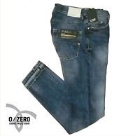 Jeans uomo 0/ZERO CONSTRUCTION 0 slim fit FABACO SWC630 pantalone denim 5 tasche