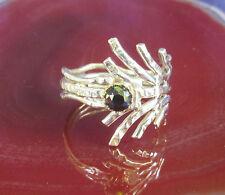 Ring Spinne Fächer Onyx Stein des Sternzeichen Steinbock Sterling Silber 925