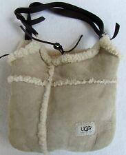 UGG Australia Bucket Bag Tan Brown Leather Sheepskin Shoulder Handbag Purse