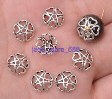 100Pcs Charms Tibetan Silver fittings  charm Bead Caps  Spacer Bead Jewelry 3069