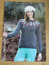 Sirdar Country Style DK - Pattern No. 9614 - Sweater