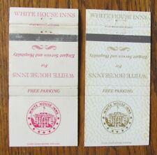 New listing WHITE HOUSE INNS MATCHBOOK MATCHCOVERS: ATLANTA DAYTON CHARLOTTE BATON ROUGE -E2