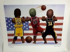 Magic Johnson, Dennis Rodman, Reggie Miller NBA Basketball 16 x 20 Baby Print
