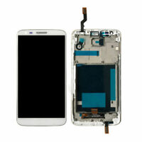 Pour LG G2 D802 LCD Display Écran vitre tactile Assemblée blanc Cadre h2