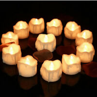 24x Flameless Candles LED Tea Light Battery Operated Flickering Lamp Home Decor