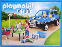 Playmobil 9278 Mobiler Hundesalon Auto Königs-Pudel Tisch Wanne Frau Zubehör NEU