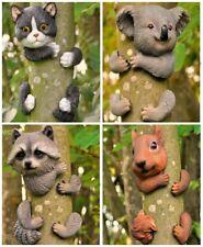 Novelty Resin Tree Hugger Hanging Peeker Hugging Animal Garden Ornament Decor UK