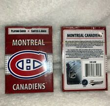 🏒 2x Montreal Canadiens Playing Cards HABS (2 Sets) NHL New sealed Frameworth
