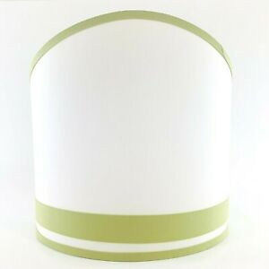 Pottery Barn Kids Hotel Stripe Wall Sconce Shade White with Green Trim