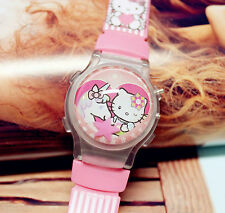 Girl Kid Child Pink Hello Kitty Unicorn Pony Digital Wrist Watch birthday Gift