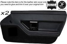 Grigio Stitch 2X PORTA ANTERIORE IN PELLE DECORAZIONE carta copertura della pelle si adatta Corvette C4 84-90