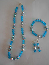 Alloy Blue Fashion Jewellery Sets