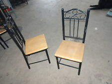 JOBLOT 14 X WOOD AND METAL DINING CATERING CHAIRS PUB RESTAURANT CAFE BAR CLUB