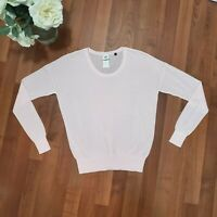 Cabi Pink Sweater Size Small Thin Lightweight Pullover Cotton Blend