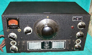 1946 National Radio HRO 5TA1 in Excellent Original Condition .. Beautiful Panel!