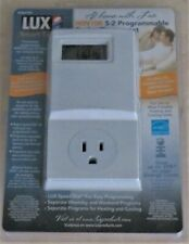 Lux Win100 Automatic Heating & Cooling 5-2 Day Programmable Outlet Thermostat