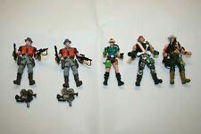 VINTAGE CHAP MEI  ADVENTURERS ACTION FIGURES WITH WEAPONS SOLDIER FORCE