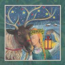 YULE XMAS GREETING CARD Magic Moment PAGAN Wiccan WINTER SOLSTICE WENDY ANDREW