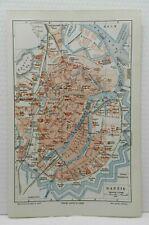 DANZIG Gedansk Marienkirche Hagelsberg City Map Stadtplan 1905 Weichsel Mottlau