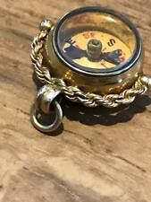 Victorian fob compass hallmarked 375 9ct gold