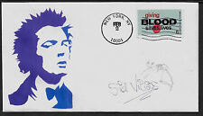 Sid Vicious Sex Pistols Featured on Limited Edition Collector's Envelope *A975