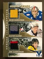 2010-11 ITG Heroes & Prospects Trios Gold Jacob Markstrom K Ellerby E Gudbranson