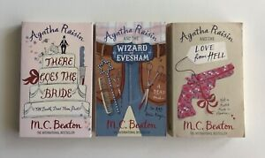 Agatha Raisin: There Goes the Bride, Wizard of Evesham and Love From Hell PB