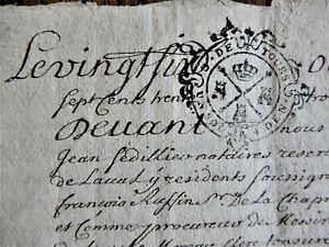 1733 France: paper document, four pages, 24 x 18 cm, fine.