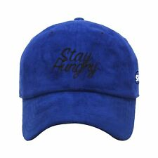 Signpainter Suede Dad Hat - Royal/Black