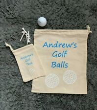 Golf Ball and Golf Tees Bags Personalised Perfect Golfer Gift for Christmas