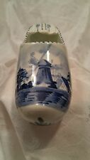 Delft Holland Hand Painted Blue & White Windmill Pottery Shoe Ashtray