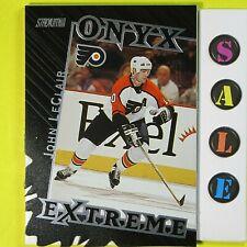 JOHN LeCLAIR  1999-00   ONYX EXTREME DIE-CUT  #OE9   Philadelphia Flyers