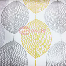 Feature Wall Glitter Large Foliage. Arthouse Scandi Leaf Yellow Wallpaper 698401