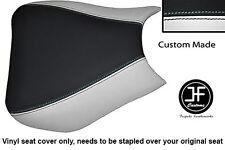Vinilo Negro Blanco Personalizado se ajusta a Honda CBR 1000 RR Fireblade 04-07 Cubierta de asiento delantero