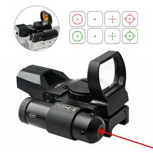 Airsoft Gewehr Red Dot Laser Sight 4 Absehen Holographisches Reflexvisier Combo