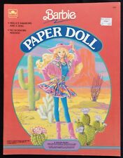 Barbie Paper Doll Book, Whitman 1990, Uncut, 4 Pages of Clothes
