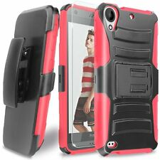 For HTC Desire 530/Desire 630 Rugged Holster Belt Clip Case Hybrid Kickstand
