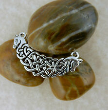 Antique silver Celtic Knot horse, Connemara ponies pendant for jewelry making