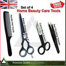 Barber Shears Hairdressing Comb Hair Trimming Scissor Cuticle Plucking Tweezers