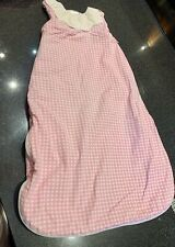 BABY GIRL SLEEPING BAG SNUGGLE TOTS PINK GINGHAM 6-18 MONTHS