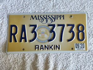 MISSISSIPPI IGWT GOLD SEAL PLATE **£4.99** Genuine Pre-Owned USA License Plate