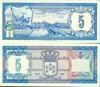 NETHERLANDS ANTILLES 5.00 - 5 - Gulden issue 1984 - UNC