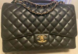 Chanel Caviar Black Medium Flap Bag Gold Hardwear