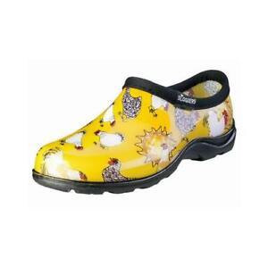 Women's Waterproof Garden Shoe, Chicken Daffodil Yellow, Size 8
