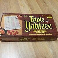 Vintage Triple Yahtzee Dice Game E.S. Lowe 1972 Complete Game